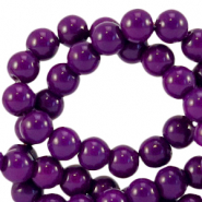 4 mm Glasperlen opaque Acai purple