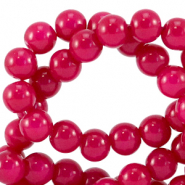 6 mm Glasperlen opaque Raspberry pink