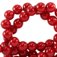 8 mm Glasperlen opaque Salsa red