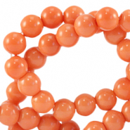 8 mm Glasperlen opaque Coral nectarine orange