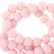 6 mm Glasperlen opaque Blossom rose