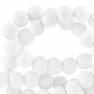 8 mm Glasperlen opaque Bright white