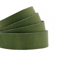 Flach 20 mm DQ Leder Soft guacamole green