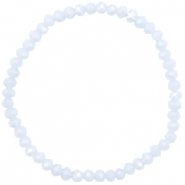 Facett Glas Armbänder 4x3mm Ice blue-pearl shine coating