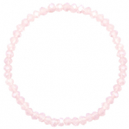 Facett Glas Armbänder 4x3mm Peach pink opal-pearl shine coating