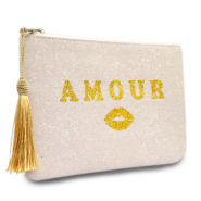 Make-up Taschen Amour Natural white-gold