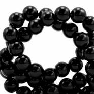 4 mm Glasperlen opaque Black