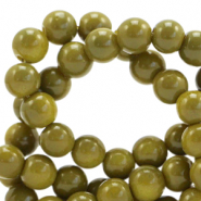 8 mm Glasperlen opaque Dusty olive