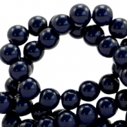 8 mm Glasperlen opaque Dark blue