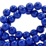 8 mm Glasperlen opaque Strong blue