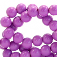 8 mm Glasperlen opaque Sheer lilac