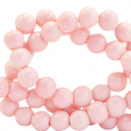 6 mm Glasperlen opaque Blossom pink