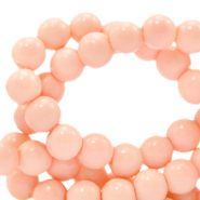6 mm Glasperlen opaque Peach blush pink