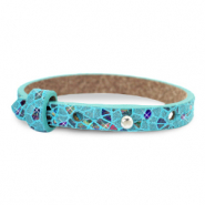 Cuoio Armbänder Kids Mosaic Turquoise