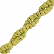Kokos Perlen Disc 4mm Green olive