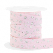 Elastisches Band Stern Light pink-silver