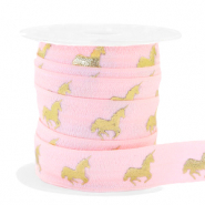 Elastisches Band Unicorn Light pink-gold