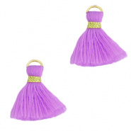 Perlen Quaste 1.5cm Gold-light purple