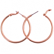 DQ Creolen 30 mm rosegold plated