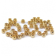 Quetschperlen DQ 2 mm gold plated