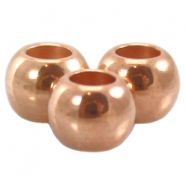 DQ Metall Ball 4 x 5 mm rosegold (nickelfrei)