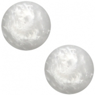 Cabochon Polaris 7mm Mosso shiny ice grey