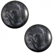Cabochon Polaris 7mm Jais anthracite grey