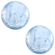 Cabochon Polaris 7mm Jais cloud blue