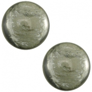 Cabochon Polaris 7mm Jais agave green