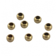 DQ Metall Quetschperlen 3mm Antik bronze (nickelfrei)