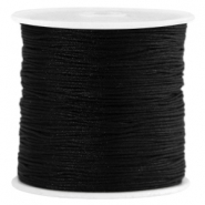 Macramé Satinband 0.8mm Black