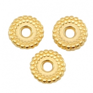 DQ Metall Ring disc 8mm deco Gold (nickelfrei)