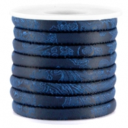 Trendy Barock gesteppt Kordel 6x4mm Midnight blue