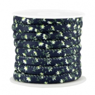 Trendy gesteppt Kordel 6x4mm Dark blue