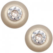 12 mm classic Cabochon Super Polaris Elements SS29 Swarovski Light taupe