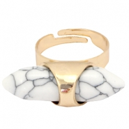 Musthave Ringe Howlith Stein Look Gold