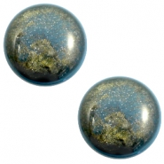 12 mm classic Cabochon Polaris Elements Stardust Blue shade