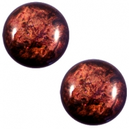 12 mm classic Cabochon Polaris Elements Stardust Port royale red