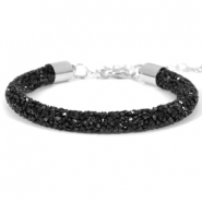 Crystal diamond Armbänder 7 mm Jet black