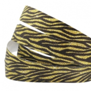 Crystal Glitzer tape animal print 10mm Black-gold