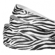 Crystal Glitzer tape animal print 5mm Silver-black