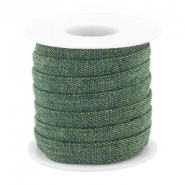 Trendy Kordel flach Denim 10mm Dark green