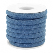Trendy gesteppte Kordel Denim 6x4mm Regular blue