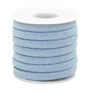 Trendy gesteppte Kordel Denim 6x4mm Light blue