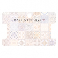 "Schmuck Karten ""made with love"" Tile Print Multicolour rose peach"