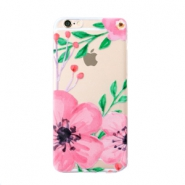 Telefon Hüllen für iPhone 7/8 Flower Transparent-pink green