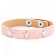 Armband Reptile mit Nieten silber Stern Dusty pink