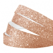 Crystal Glitzer tape 10mm Champagne rose gold