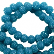 Sparkling beads 6mm Teal blue