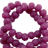 Sparkling beads 6mm Butterfly purple